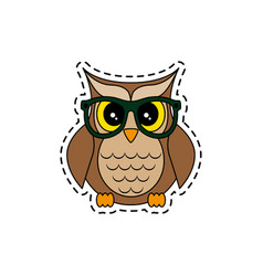 Owl with glasses vector