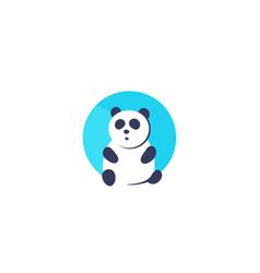 panda logo icon vector image