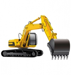 Power excavator vector