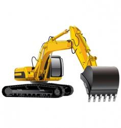 power excavator vector image