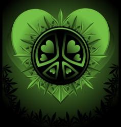 psychedelic cannabis vector image