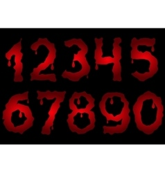 Red bloody numbers vector