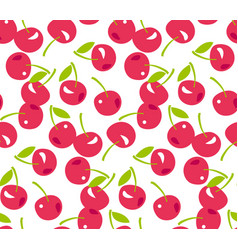 red simple cherry seamless pattern vector image