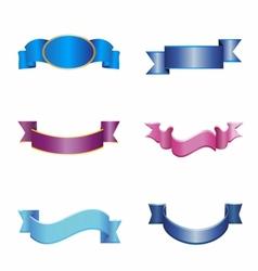 ribbon art eps vector image