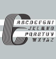ribbon font 1 vector image