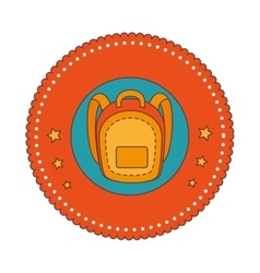 School bag equipment icon vector