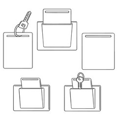 Set of keycard vector