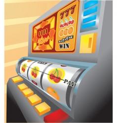 slot machine illustration vector image