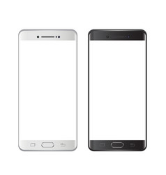 Smartphones black and white smartphone isolated vector