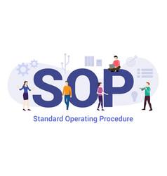 Sop standard operating procedure concept with big vector