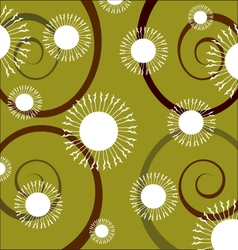swirl flowers background vector image