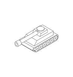 Tank icon isometric 3d style vector image