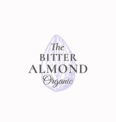 Tiny bitter almond abstract sign symbol vector