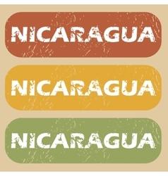 Vintage Nicaragua stamp set vector