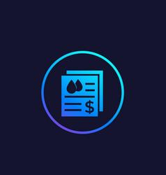 Water utility bills icon vector