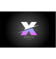 x alphabet letter logo icon design in pink white vector image