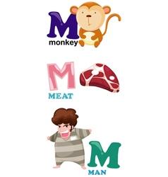Alphabet letter - m vector