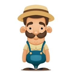 cute farmer vector image vector image
