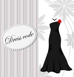 Elegant dress background vector image
