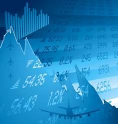financial crash blue vector image