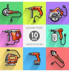 Power tool set vector image