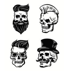 set of skull vector image vector image