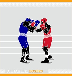 Athlete boxers vector image vector image
