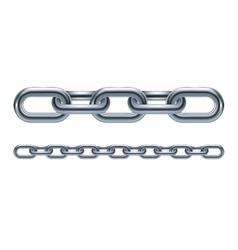 Metal chain links vector