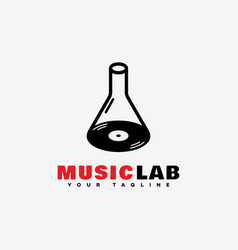 Music lab logo vector