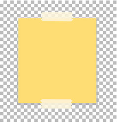 paper sheet on sticky tape with transparent shadow vector image