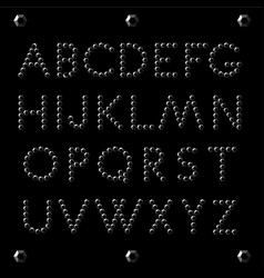alphabet letters black diamond vector image