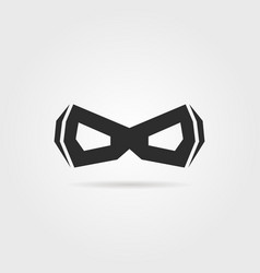 black simple superhero mask with shadow vector image vector image