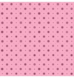 christmas elements pink Seamless pattern with vector image