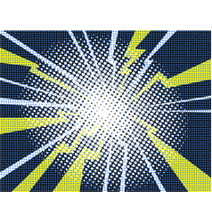 electric comic book explosion white yellow purple vector image vector image