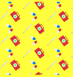 hospital seamless pattern vector image vector image