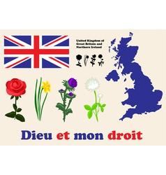 United Kingdom symbols vector image