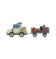 baggage cart isolated icon vector image vector image