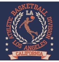 California College basketball vector image vector image