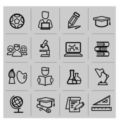 education icons signs set vector image vector image