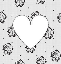 heart on a background of floral lace vector image vector image