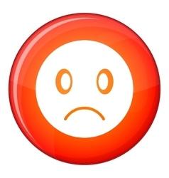 Sad emoticon flat style vector image vector image