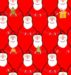 Santa Claus seamless pattern background for new vector image vector image
