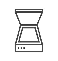 scanner line icon vector image