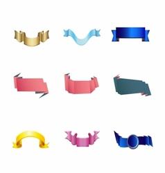 Set of 4 ribbon premium ribbon vector image vector image