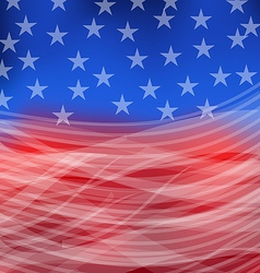 Abstract american flag for happy 4th july vector
