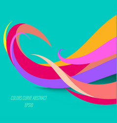 Abstract colors curve on a green vector