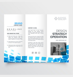 Abstract tri-fold business brochure design with vector