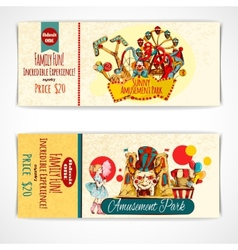 Amusement Park Tickets vector image