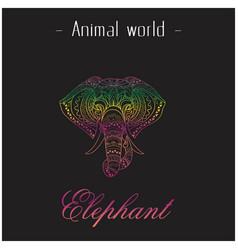 Animal world elephant head of elephant thai design vector