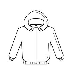 Baby coat line icon vector